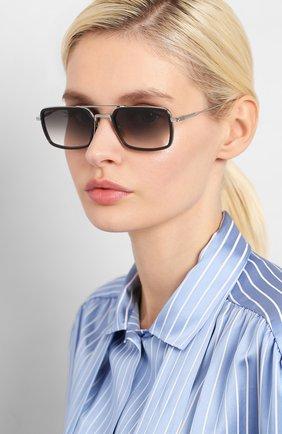 Мужские солнцезащитные очки DITA серебряного цвета, арт. FLIGHT.008/01 | Фото 2