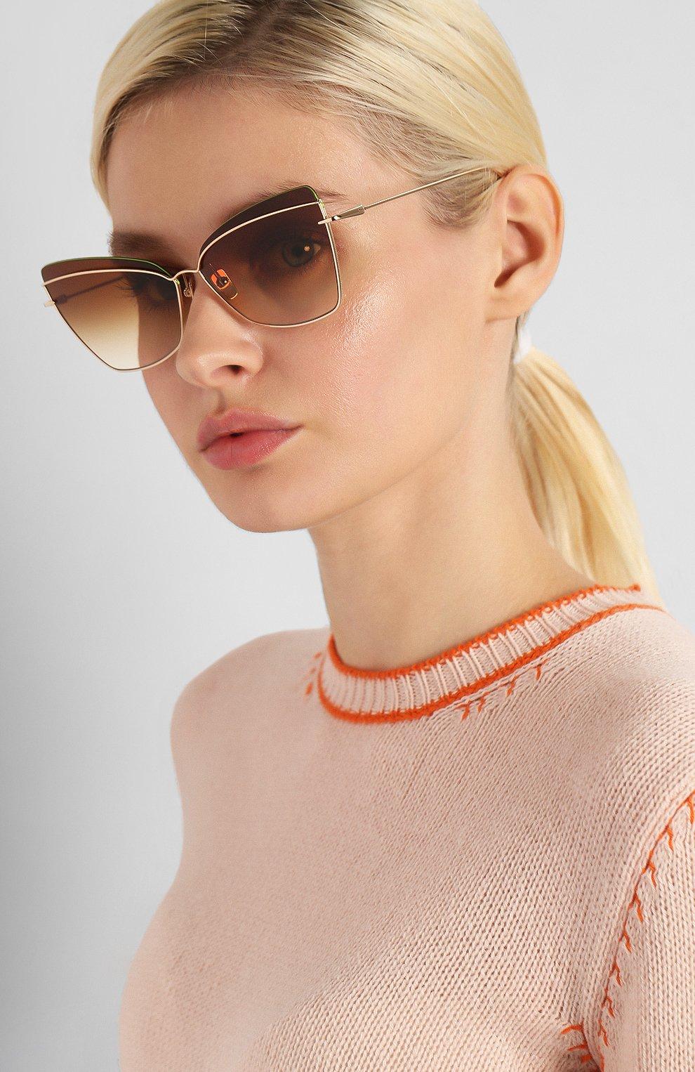 Женские солнцезащитные очки DITA золотого цвета, арт. STARSPANN/01   Фото 2