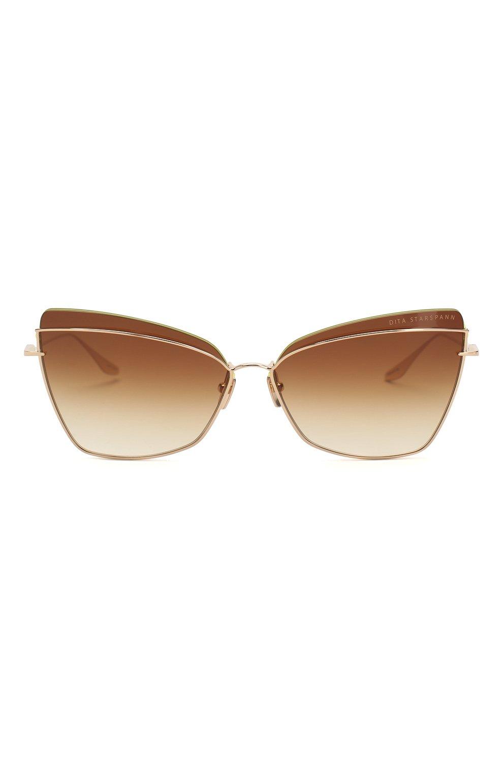 Женские солнцезащитные очки DITA золотого цвета, арт. STARSPANN/01   Фото 3