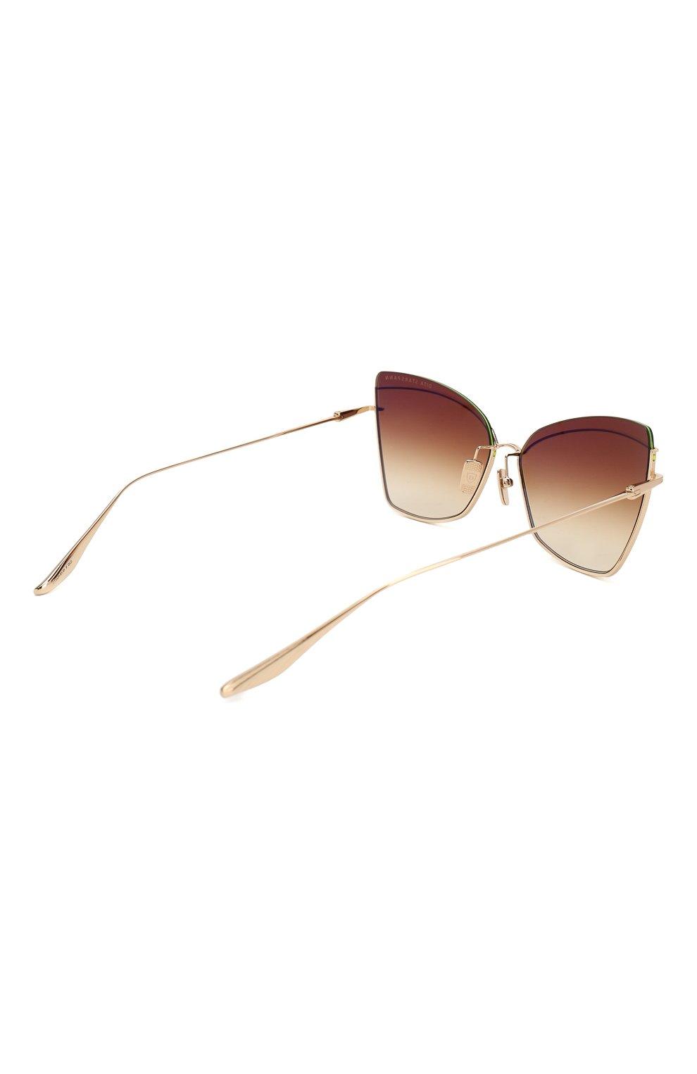 Женские солнцезащитные очки DITA золотого цвета, арт. STARSPANN/01   Фото 4