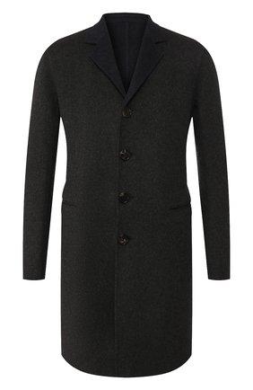 Мужской двустороннее кашемировое пальто BOTTEGA VENETA темно-серого цвета, арт. 545723/V0KA1 | Фото 1