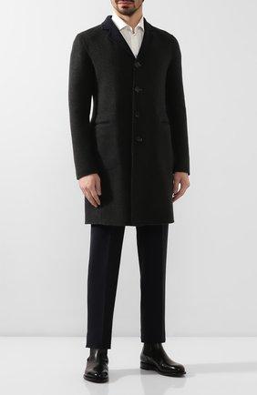Мужской двустороннее кашемировое пальто BOTTEGA VENETA темно-серого цвета, арт. 545723/V0KA1 | Фото 2