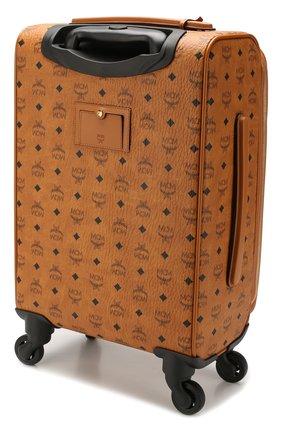 Женский кожаный дорожный чемодан на колесиках MCM коричневого цвета, арт. MUV 8SVY04 | Фото 2