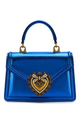 Женский сумка devotion small DOLCE & GABBANA синего цвета, арт. BB6711/A1016   Фото 1