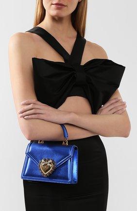 Женский сумка devotion small DOLCE & GABBANA синего цвета, арт. BB6711/A1016   Фото 2