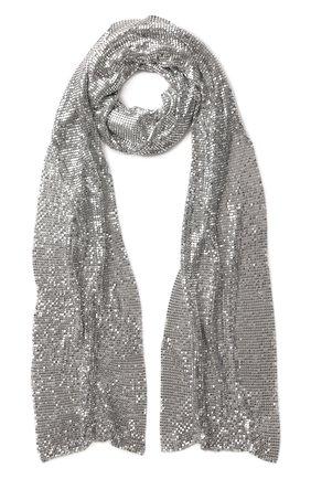 Женский шарф TOM FORD серебряного цвета, арт. SF0011-ACX002 | Фото 1 (Материал: Металлизированное волокно)