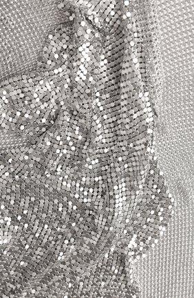 Женский шарф TOM FORD серебряного цвета, арт. SF0011-ACX002 | Фото 2 (Материал: Металлизированное волокно)