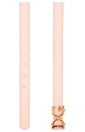 Женский кожаный ремень DOLCE & GABBANA светло-розового цвета, арт. BE1348/AX095 | Фото 2