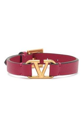 Кожаный браслет Valentino Garavani VLOGO   Фото №1