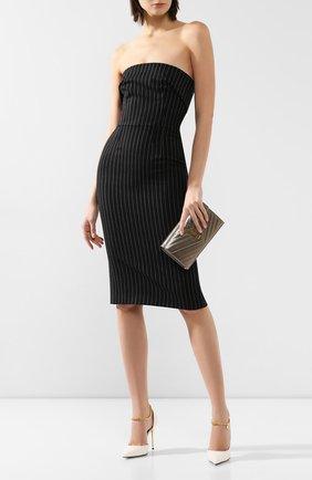 Женские кожаные туфли TOM FORD белого цвета, арт. W2613T-LKD002 | Фото 2 (Материал внутренний: Натуральная кожа; Подошва: Плоская; Каблук высота: Высокий; Каблук тип: Шпилька)