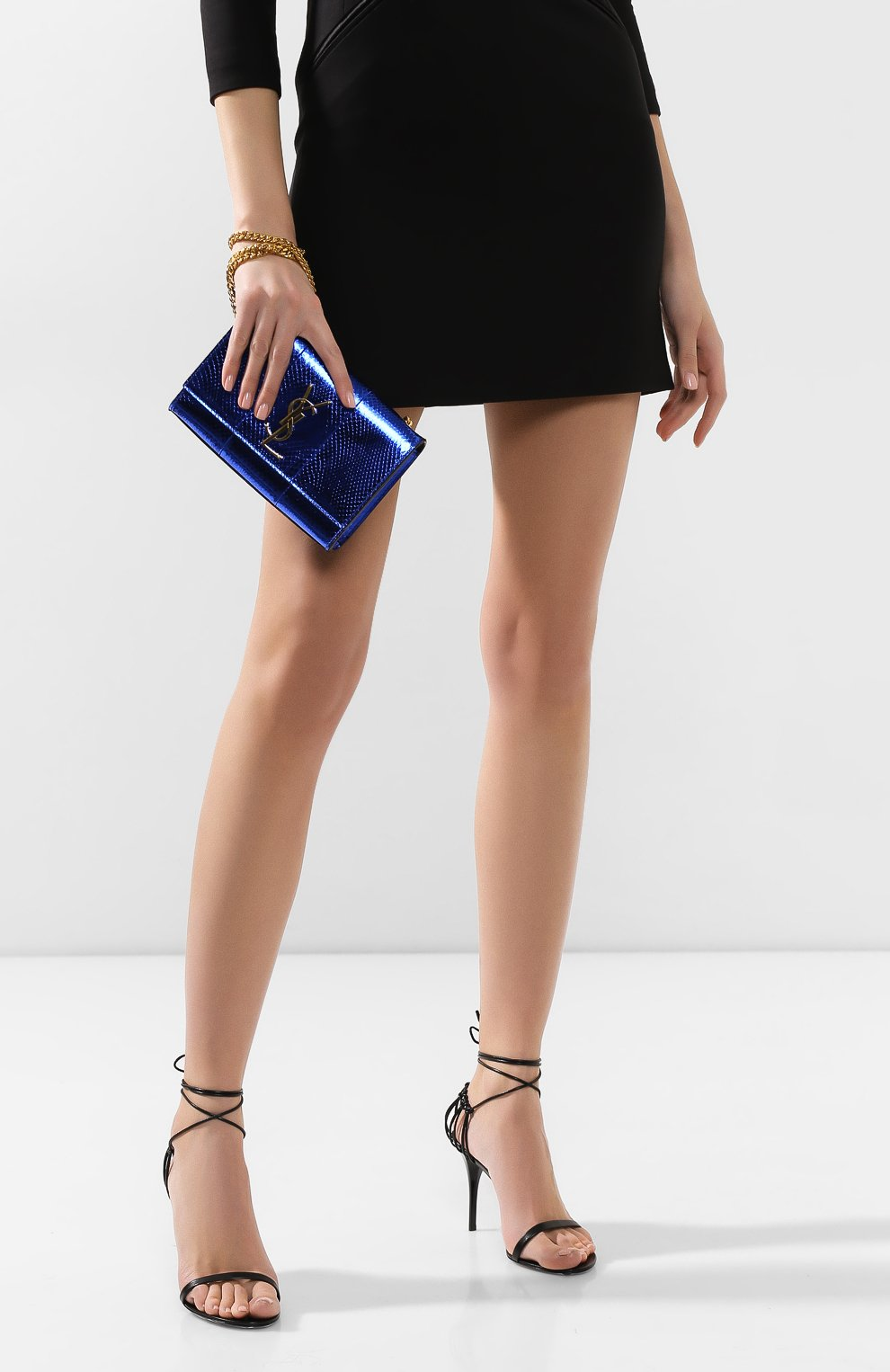 Женская сумка monogram kate SAINT LAURENT темно-синего цвета, арт. 469390/LZA0J   Фото 2