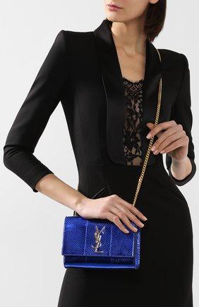 Женская сумка monogram kate SAINT LAURENT темно-синего цвета, арт. 469390/LZA0J   Фото 5