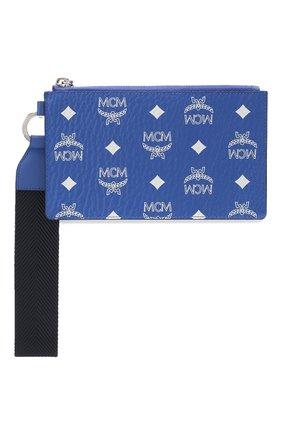 Женские футляр для документов MCM синего цвета, арт. MXZ ASVI04 | Фото 1