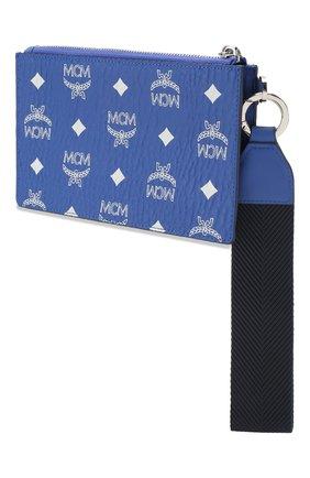 Женские футляр для документов MCM синего цвета, арт. MXZ ASVI04 | Фото 2