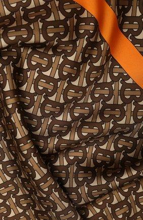 Женский шелковый платок BURBERRY коричневого цвета, арт. 8025560 | Фото 2