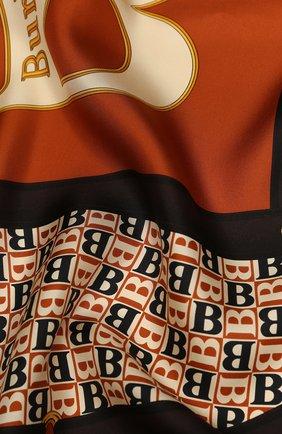 Женский шелковый платок BURBERRY коричневого цвета, арт. 8024548 | Фото 2