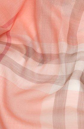 Мужские шарф из смеси шерсти и шелка BURBERRY розового цвета, арт. 8024521 | Фото 2
