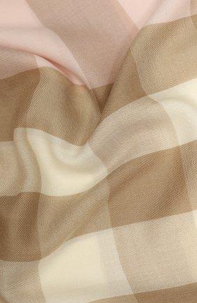 Мужские кашемировый шарф BURBERRY розового цвета, арт. 8024501 | Фото 2