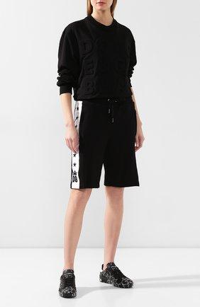 Женские хлопковые шорты DOLCE & GABBANA черного цвета, арт. FTBM5Z/FU7DU | Фото 2