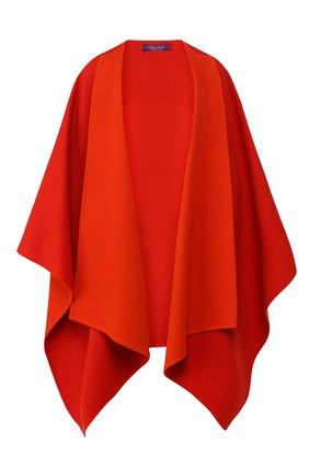 Женская шерстяное пончо RALPH LAUREN оранжевого цвета, арт. 290790786 | Фото 1