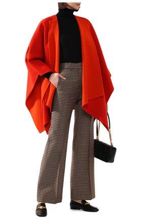 Женская шерстяное пончо RALPH LAUREN оранжевого цвета, арт. 290790786 | Фото 2
