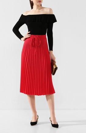 Женская юбка-миди REDVALENTINO красного цвета, арт. TR3RAB85/4RA | Фото 2