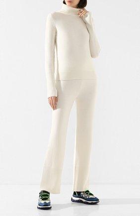 Женские кашемировые брюки JOSEPH белого цвета, арт. JF004381 | Фото 2