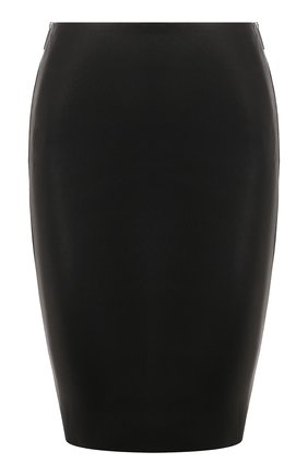 Женская кожаная юбка JITROIS черного цвета, арт. JUPE HEAVEN AGNEAU STRETCH | Фото 1