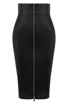 Женская кожаная юбка JITROIS черного цвета, арт. JUPE DEE AGNEAU STRETCH | Фото 1