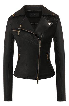 Женская кожаная куртка JITROIS черного цвета, арт. BL0US0N RIDER 4 FEMME AGNEAU STRETCH | Фото 1