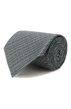 Мужской шелковый галстук ERMENEGILDO ZEGNA зеленого цвета, арт. Z7D87/1UM | Фото 1