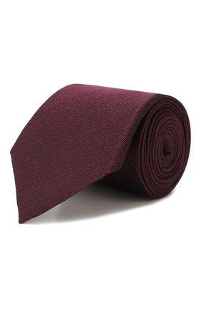 Мужской шелковый галстук ERMENEGILDO ZEGNA бордового цвета, арт. Z7D30/1L7 | Фото 1