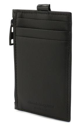 Мужской кожаный футляр для кредитных карт ALEXANDER MCQUEEN черного цвета, арт. 602151/1SJ3B | Фото 2