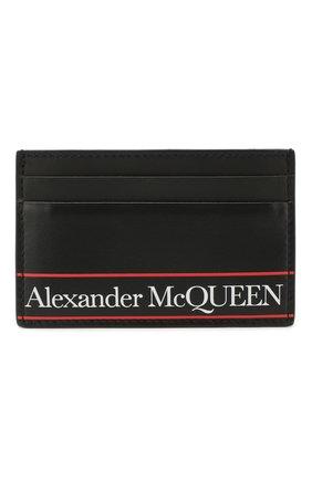 Мужской кожаный футляр для кредитных карт ALEXANDER MCQUEEN черного цвета, арт. 602144/1SJ2B | Фото 1