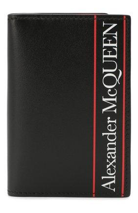 Мужской кожаный футляр для кредитных карт ALEXANDER MCQUEEN черного цвета, арт. 602142/1SJ0B | Фото 1