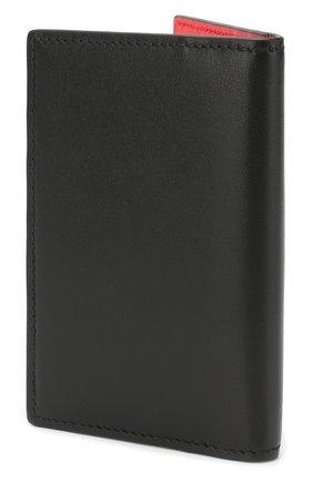 Мужской кожаный футляр для кредитных карт ALEXANDER MCQUEEN черного цвета, арт. 602142/1SJ0B | Фото 2