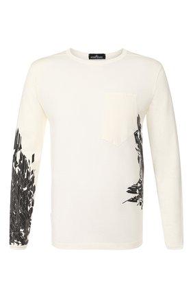 Мужская хлопковый лонгслив STONE ISLAND SHADOW PROJECT белого цвета, арт. 721920215 | Фото 1