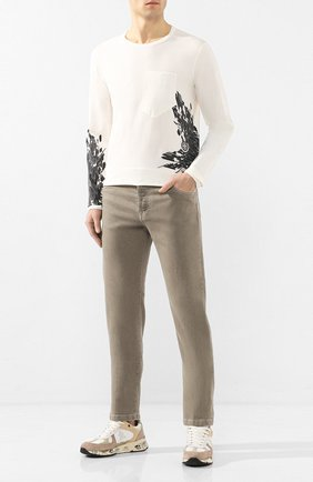 Мужская хлопковый лонгслив STONE ISLAND SHADOW PROJECT белого цвета, арт. 721920215 | Фото 2