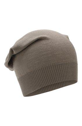 Мужская шерстяная шапка RICK OWENS серого цвета, арт. RU20S7493/M | Фото 1