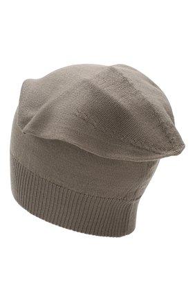 Мужская шерстяная шапка RICK OWENS серого цвета, арт. RU20S7493/M | Фото 2