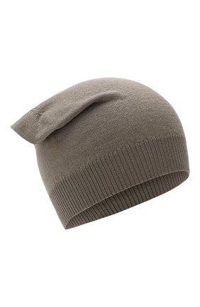 Мужская шерстяная шапка RICK OWENS серого цвета, арт. RU20S7494/M | Фото 1