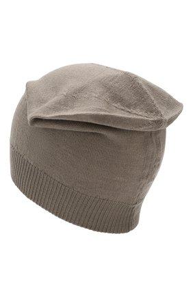 Мужская шерстяная шапка RICK OWENS серого цвета, арт. RU20S7494/M | Фото 2