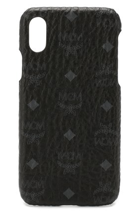 Мужской чехол для iphone x MCM черного цвета, арт. MZE 8AVI97 | Фото 1