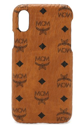 Мужской чехол для iphone x MCM коричневого цвета, арт. MZE 8AVI97 | Фото 1