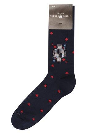Мужские хлопковые носки STORY LORIS темно-синего цвета, арт. 995 | Фото 1