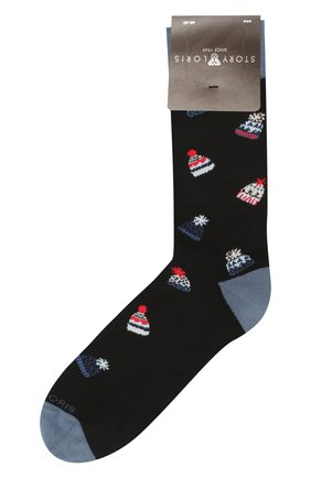Мужские хлопковые носки STORY LORIS черного цвета, арт. 75 | Фото 1