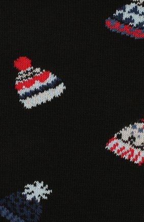 Мужские хлопковые носки STORY LORIS черного цвета, арт. 75 | Фото 2