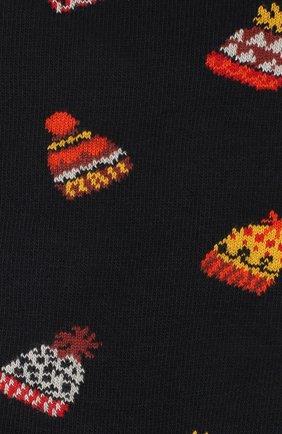 Мужские хлопковые носки STORY LORIS темно-синего цвета, арт. 75 | Фото 2