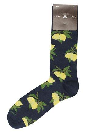Мужские хлопковые носки STORY LORIS темно-синего цвета, арт. 5741 | Фото 1
