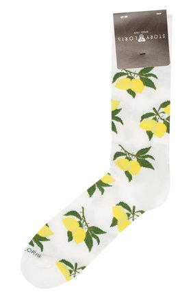 Мужские хлопковые носки STORY LORIS белого цвета, арт. 5741 | Фото 1